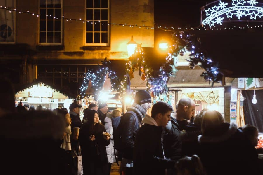 People browsing at Bath Christmas Market